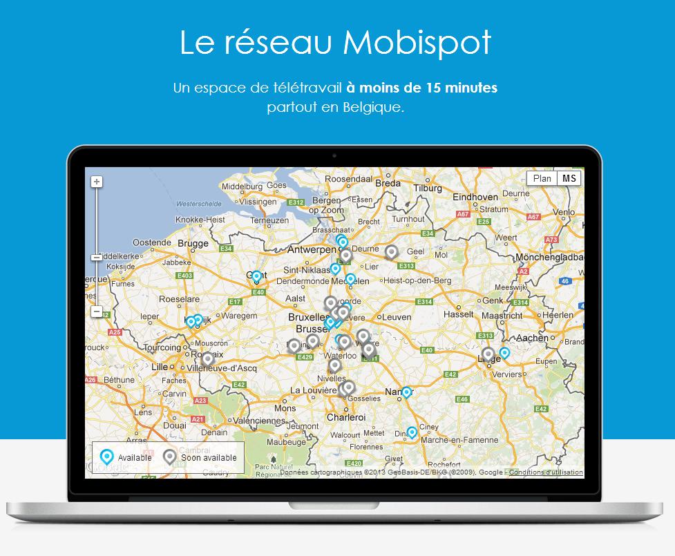 Mobispot : un bureau n'importe où, n'importe quand