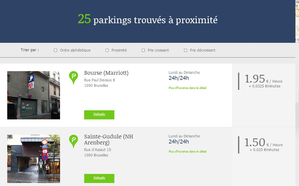 BePark, la solution de parking facile