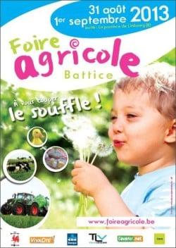 24e édition de la foire agricole de Battice-Herve ce 31/08 et 01/09