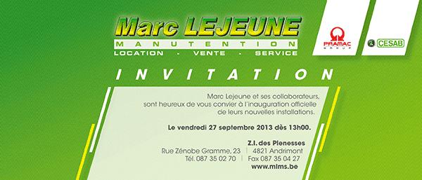 Portes ouvertes chez Marc Lejeune Manutention le 27 septembre