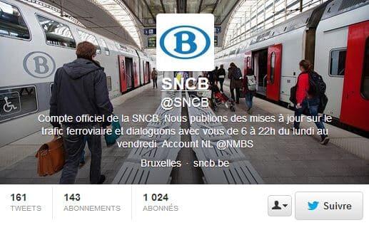 La SNCB sur Twitter pour informer en temps réel