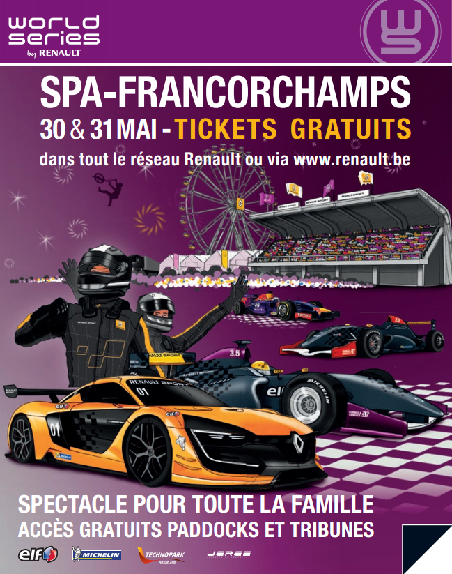 World Series by Renault 2015 à Spa-Francorchamps