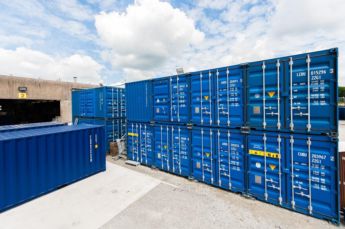 Histoire et différentes sortes de containers de stockage